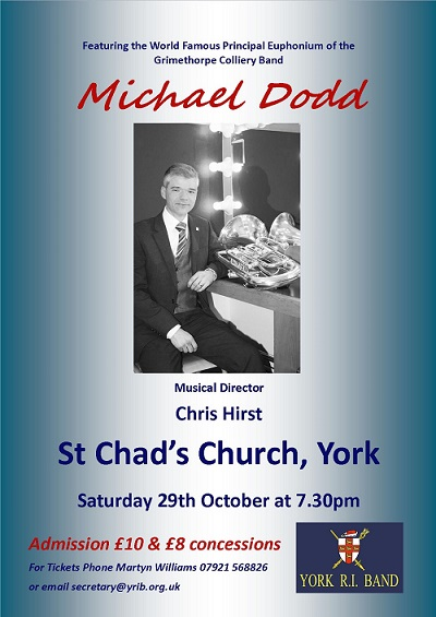 Poster for Concert with Michael Dodd