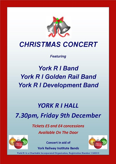 Poster for RI Christmas Concert